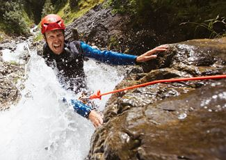 Canyoning tour - alpine school widderstein.