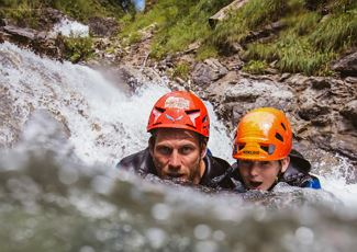 Wild water swimming - alpine school widderstein.